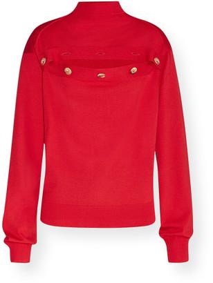 Bottega Veneta Mock-Neck Cutout Wool Sweater