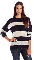 Scotch & Soda Maison Scotch Women's Border Stripe Crewneck Pullover Sweater