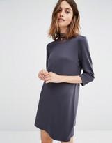 Vila Lace High Neck Shift Dress