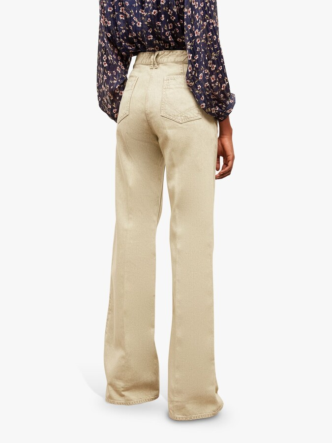 Thumbnail for your product : Gerard Darel Anna Flared Jeans, Green