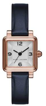 Marc Jacobs Vic Rose Goldtone Stainless Steel and Leather Three-Hand Strap Watch