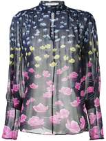 Mary Katrantzou Rainbow lily print blouse