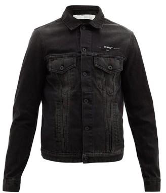 Off-White Off White Logo-print Denim Jacket - Mens - Black