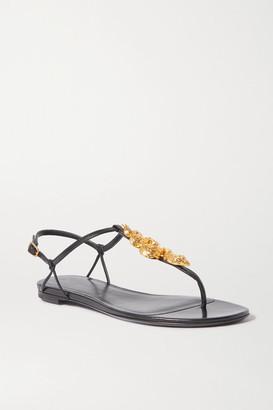 Valentino Garavani Maison Snake Leather Sandals - Black