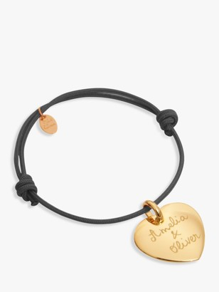 Merci Maman Personalised 18ct Gold Plated Heart Bracelet