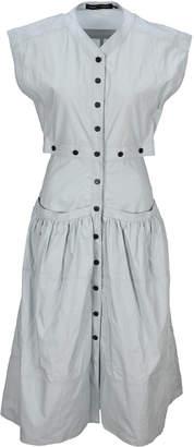 Proenza Schouler Short Sleeves Buttoned Dress