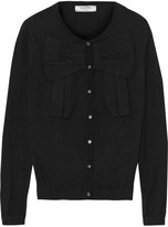 Valentino Roma Bow-detailed cotton cardigan