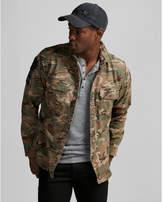 Express camo patch embellished shirt jacket