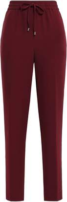 DKNY Gathered Stretch-crepe Track Pants