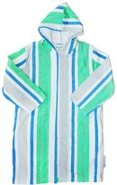 Back Beach Co Adult/ Teen Green Stripe Hooded Towel Robe