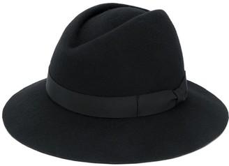 Yohji Yamamoto Side Bow Fedora Hat