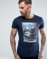 BOSS ORANGE by Hugo Boss Totally 1 Twitter Graphic T-shirt Navy