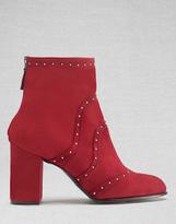 Belstaff Pointet Studded Short Boots Burgundy