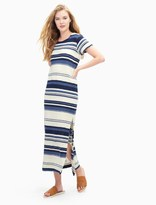 Splendid Stripe Maxi T-Shirt Dress