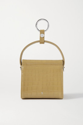 Gu_de Play Mini Croc-effect Leather Tote - Sand