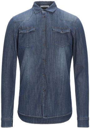 Grey Daniele Alessandrini Denim shirts