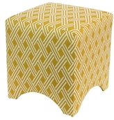 Skyline Furniture Cube Cotton Ottoman