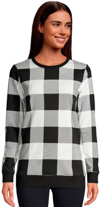 Lands' End Petite Serious Sweats Crewneck Sweatshirt Tunic