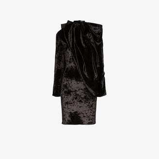 Y/Project draped velvet mini dress