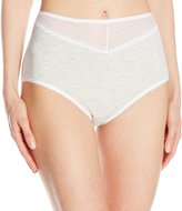 Vanity Fair Women's Cotton Beautifully Smooth with Lace Brief Panty 13128