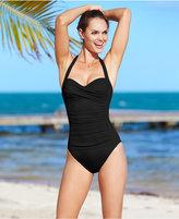 LaBlanca La Blanca Ruched Twist-Front One-Piece Swimsuit
