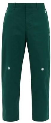 Craig Green Mirrorwork Poplin Straight-leg Trousers - Green