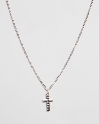 ICON BRAND Curb Chain Necklace with Cross