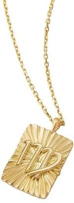 David Webb Zodiac 18K Yellow Gold Reversible Virgo Pendant Necklace
