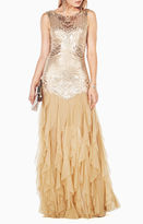 BCBGMAXAZRIA Magdalena Sequined Gown