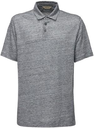 Ermenegildo Zegna Heathered Linen Polo Shirt