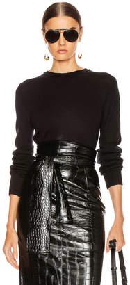 Jil Sander Crewneck Long Sleeve Sweater in Black | FWRD