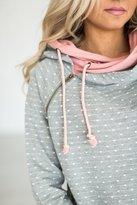 Ampersand Avenue DoubleHoodTM Sweatshirt - Polka Dot Pink