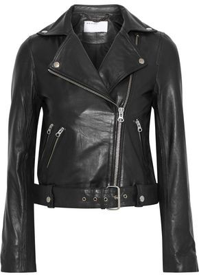 Muu Baa Muubaa Manning Cropped Leather Biker Jacket