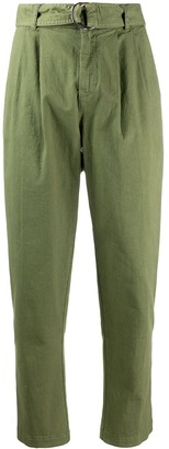 P.A.R.O.S.H. denim tapered cropped trousers