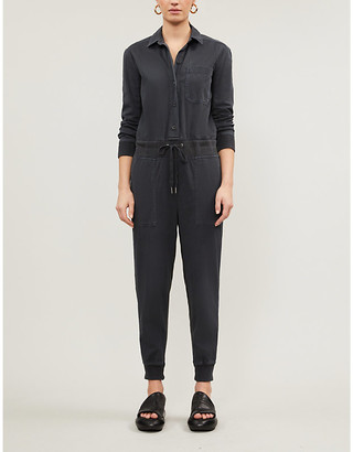 James Perse Mixed Media cotton jumpsuit