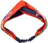 Gucci - Flora Snake print headband -