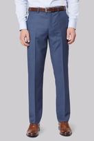 Ted Baker Tailored Fit Blue Sharkskin Trouser