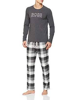 BOSS Men's Cosy Long Set Pyjama (Medium Grey 036)