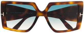 Tom Ford Quinn oversized-frame sunglasses
