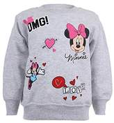 Disney Girl's Minnie Patches Sweatshirt