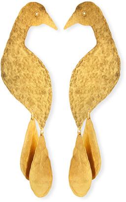 We Dream In Colour Petite Peacock Dangle Earrings