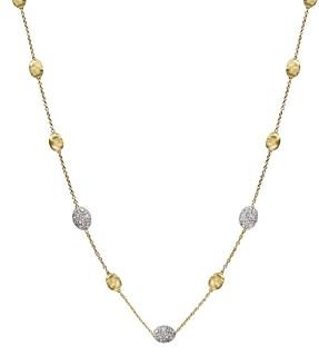 Marco Bicego Siviglia 18K Yellow Gold Necklace with Diamonds, 16.5