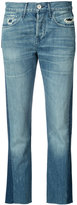 3x1 panelled cropped jeans - women - Cotton - 24