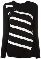 Proenza Schouler asymmetric striped jumper - women - Cotton/Cashmere - XS