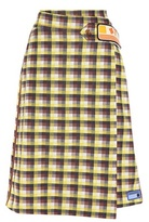 Prada Plaid wrap skirt