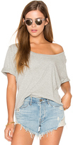 Three Dots Boxy Tee in Gray. - size XS (also in )