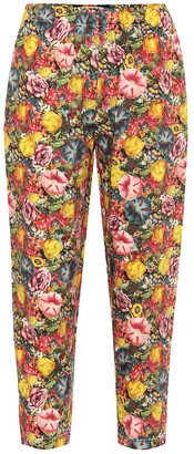Marni High-rise printed carrot pants