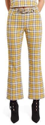 Morgan Miaou Yellow Plaid Pants