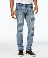 INC International Concepts Men's Light Wash Ripped Skinny Jeans, Only at Macy's