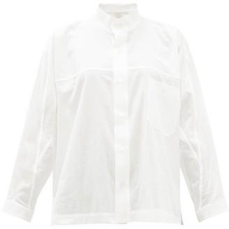 Issey Miyake Stand-collar Cotton Shirt - White